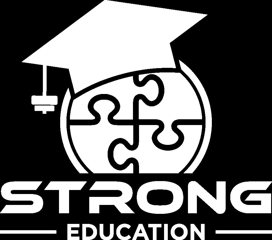 strong education logo white